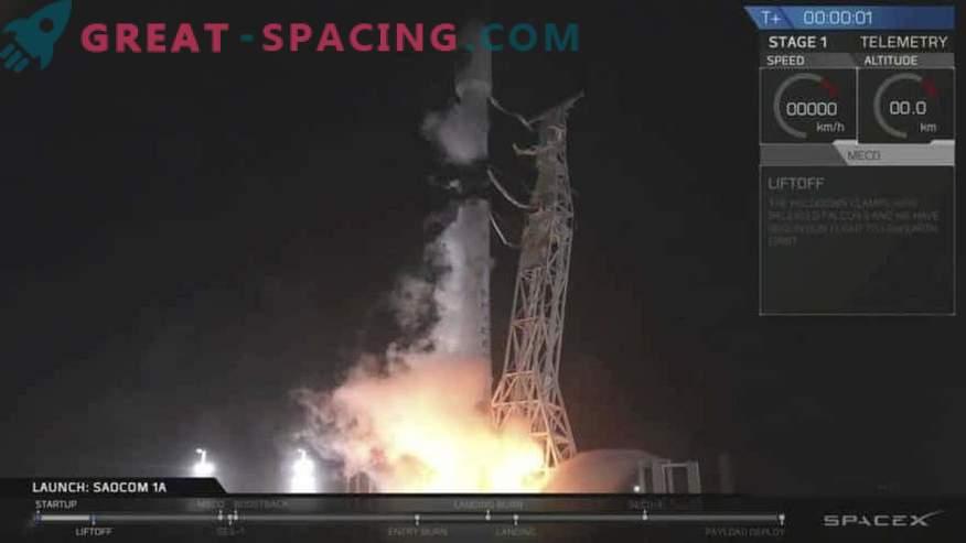 Lancement réussi du satellite et atterrissage de la fusée SpaceX