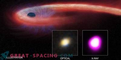 Un trou noir supermassif déchire une étoile malheureuse