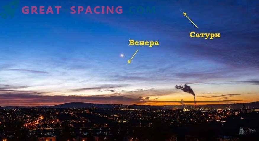 Qué objetos celestes aparecen en el cielo el 25 de abril de 2019