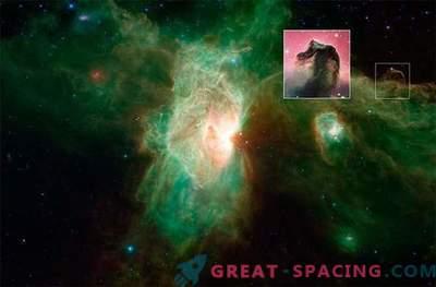 Nouvelle image de la nébuleuse de la flamme, réalisée par le télescope Spitzer