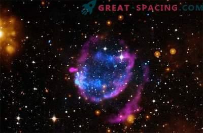 Reste de la supernova avec un puissant rayonnement thermique
