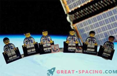 L'astronaute britannique présente la station spatiale LEGO destinée aux free riders