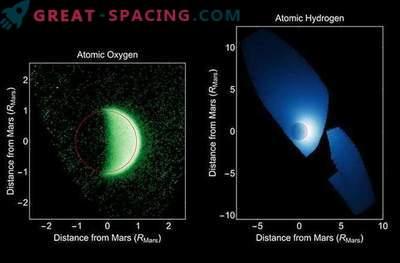 L'atmosfera marziana è dispersa nello spazio