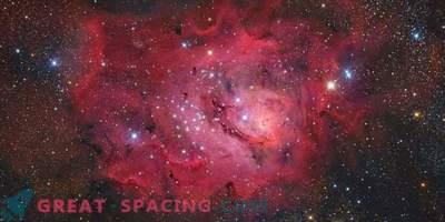 Nebulosa de Laguna en un fondo estrellado