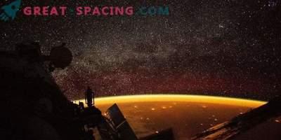 Vue nocturne de la Terre depuis l'ISS