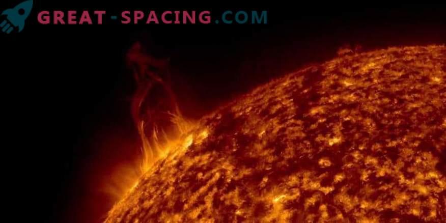 Les éruptions solaires ont frappé la Terre