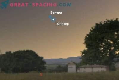 La conjonction de Vénus et Jupiter le 30 juin 2015
