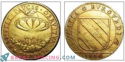 Le motif d'une ancienne pièce de monnaie française du XVIIe siècle ressemble à un navire extraterrestre. Opinion ufologov
